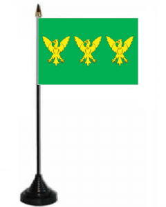 Caernarfonshire Desk / Table Flag with plastic stand and base.